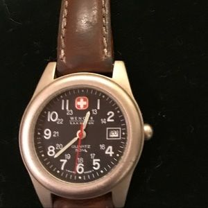 Wenger Swiss Army Watch with leather band